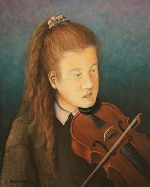 Tochter Carmen mit Violine