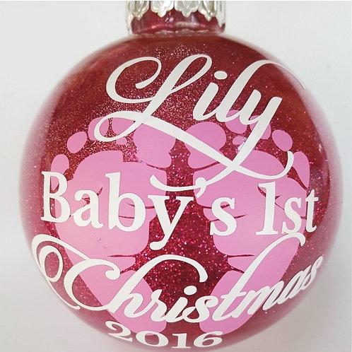 Baby's First Christmas Custom Ornament