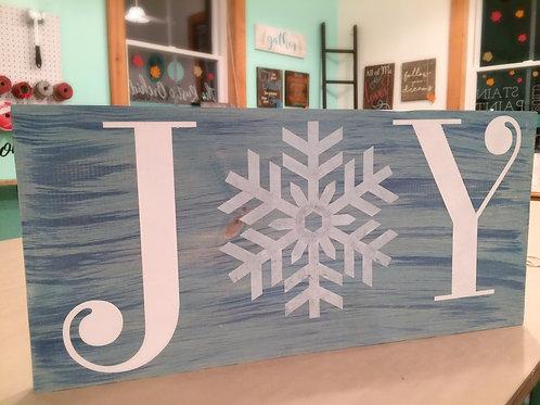 Joy Snowflake Sign - Christmas and Winter Decor