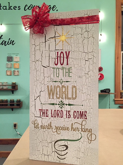 Joy to the World - Christmas Rustic Wood Sign