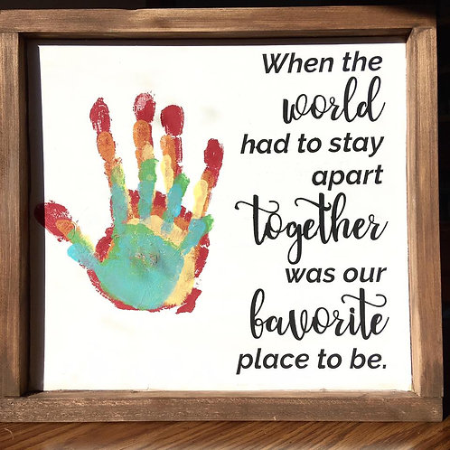 TAKE & MAKE KIT - When the world had to stay apart together was our favorite