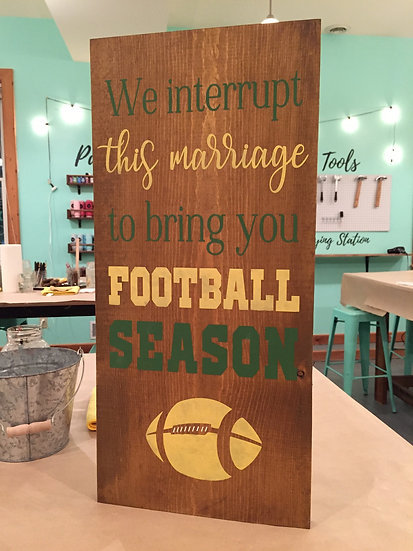 We interrupt this marriage to bring you football season - gift for men - Packers
