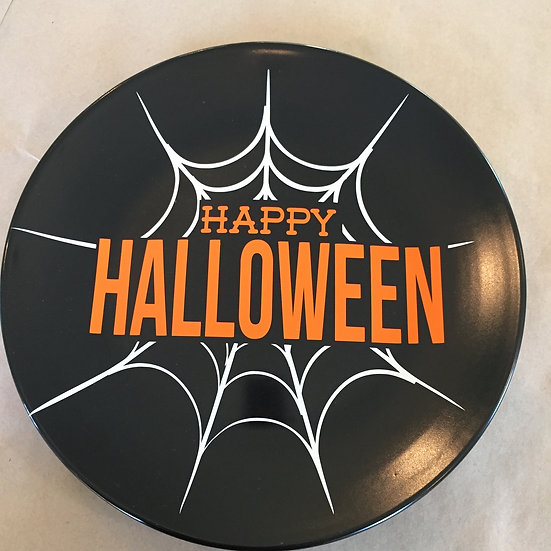 Happy Halloween Decorative Spider Web Plate