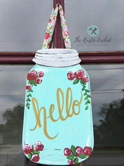 Mason Jar Door Hanger Take and Make