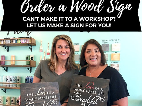 Order a Wood Sign