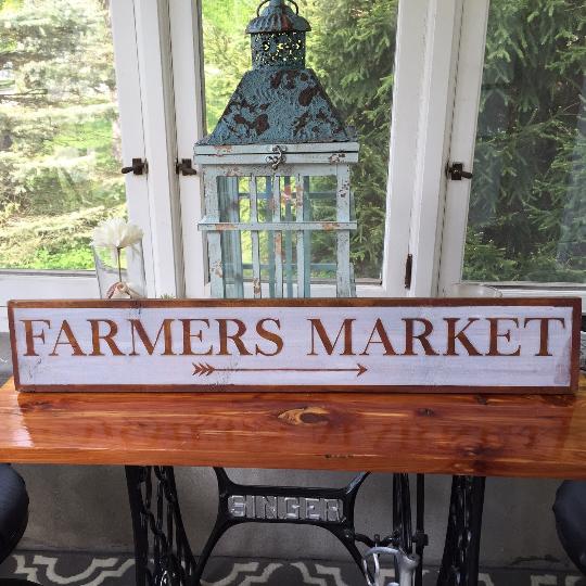 Farmers Market Sign - Rustic Farmhouse Sign