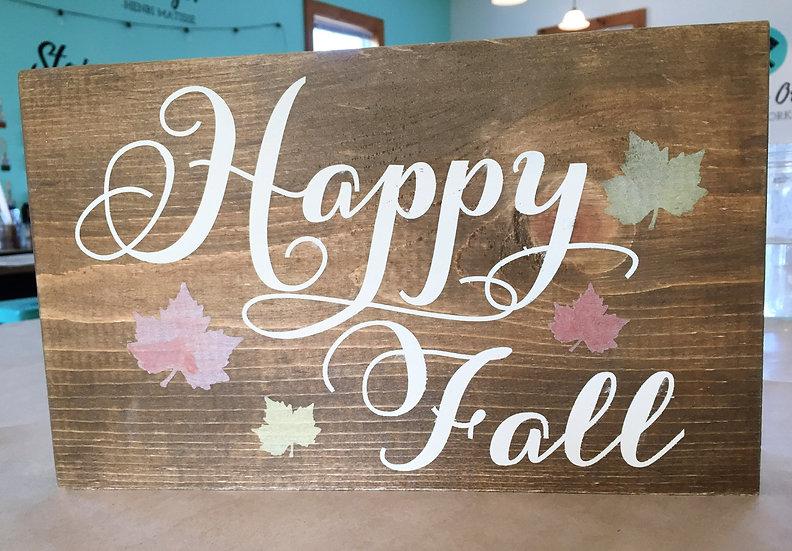 Happy Fall Handmade Wood Sign