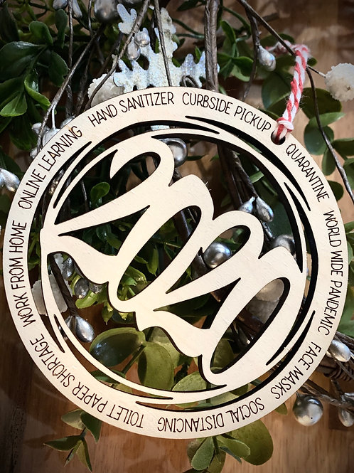 2020 Ornament - Commemorative ornament gift - Quarantine Gift