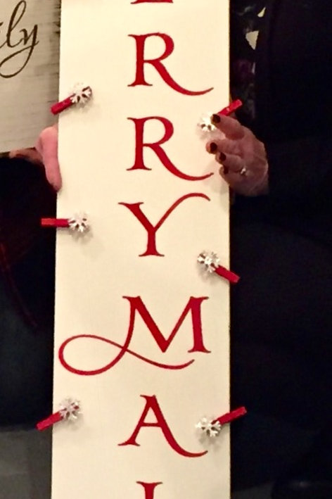 Merry Mail Christmas Sign
