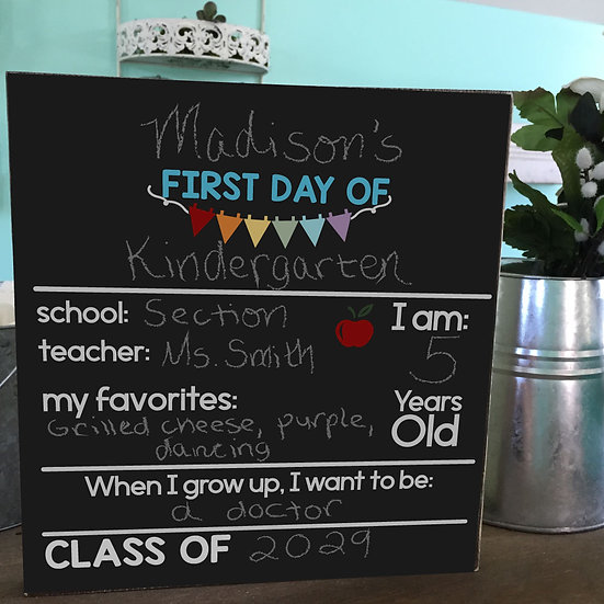 Double Sided First/Last Day of School Chalkboard Sign