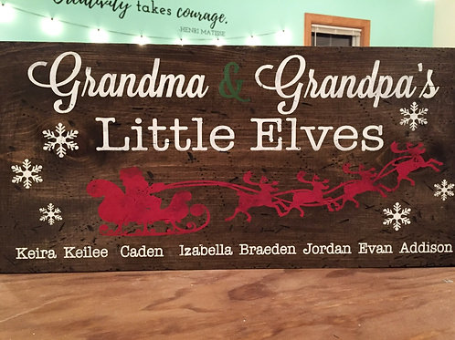 Grandma and Grandpa's Little Elves