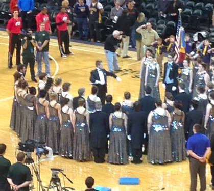 National Anthem at Pacers Game