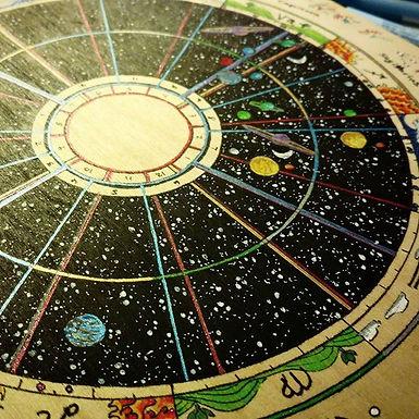 Soul Journey Chart, Couples Astrology Art
