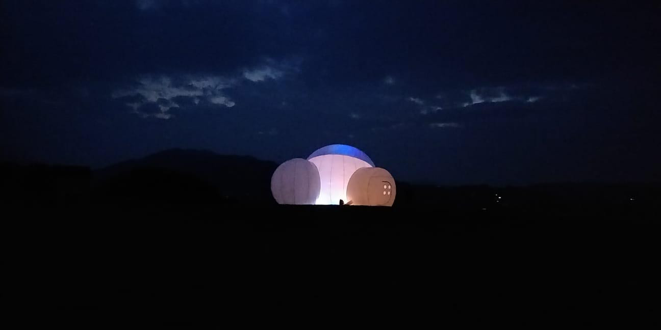 Bubble Tent by night