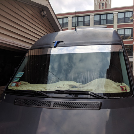 "Dodge Sprinter 6"" Windshield Strip Reflective Tint"
