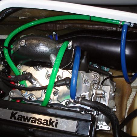 Kawasaki SXR 800 Jetski ADA Girdled Head Install
