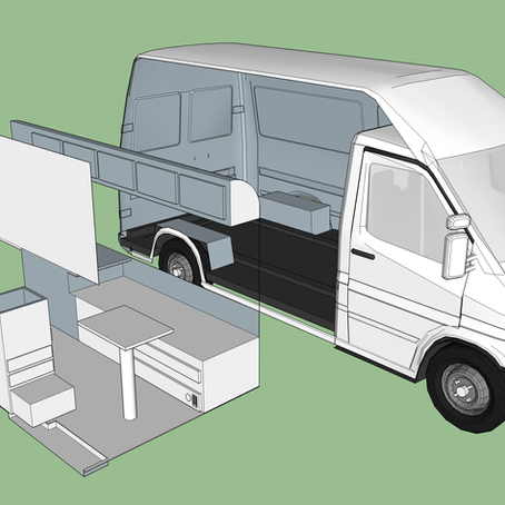 Dodge Sprinter Interior SketchUp and Planning