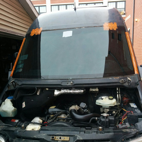 Dodge Sprinter Windshield Replacement and Rust Repair