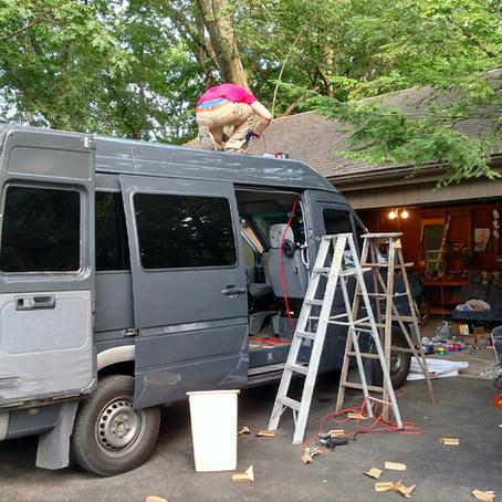 Dodge Sprinter MaxxFan and Solar Install