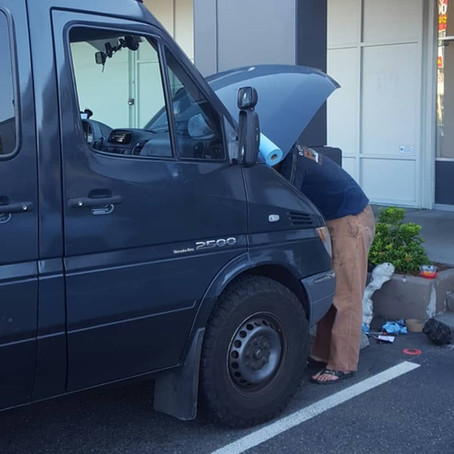 Dodge Sprinter Alternator Replacement on the Road