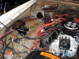 i took this time to go through my entire wiring harness and eliminate any  unused or added wires that were there for the original ignition system