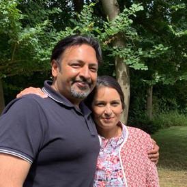 Suraj Sharma and Priti Patel