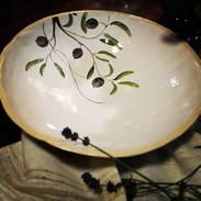 Schüssel Olivenmotiv