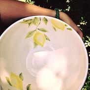 Schüssel Zitronenmotiv