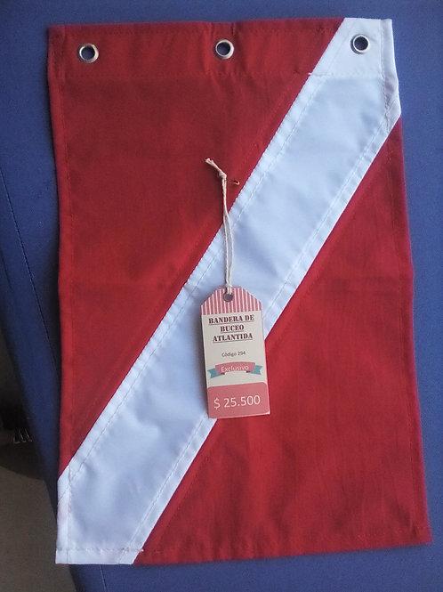 Bandera de buceo 40 x 25 atlantida