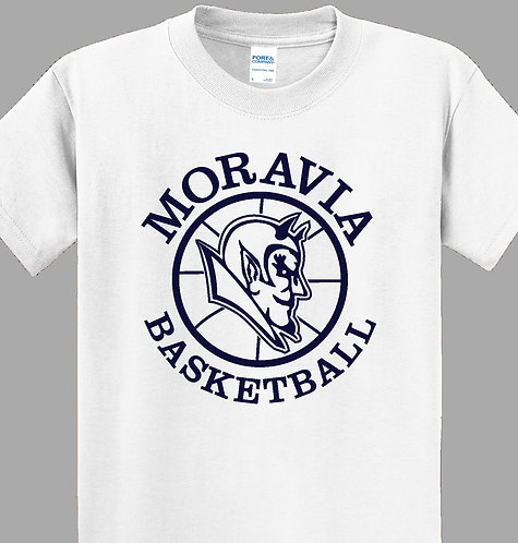 Moravia Basketball Youth White-Out Tee