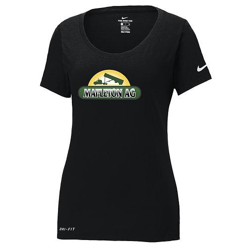 Mapleton Ag Nike Ladies Dri-FIT Cotton/Poly Scoop Neck Tee
