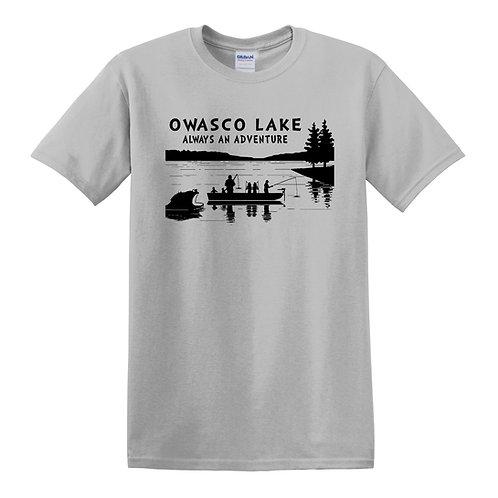 Owasco Lake Always an Adventure Adult T-Shirt