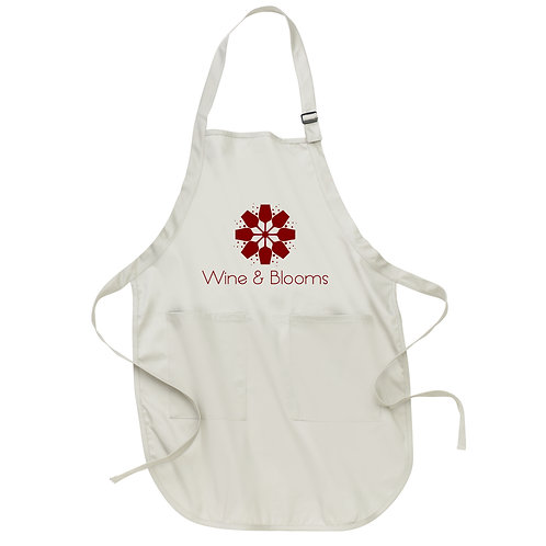 Wine & Blooms Full-Length Apron with Pockets A500