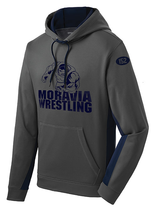 Moravia Wrestling Wicking Hooded Pullover ST235