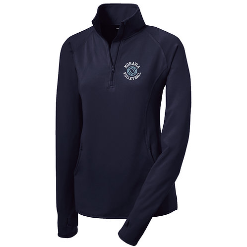 Moravia Volleyball Ladies 1/2 Zip Wicking Pullover LST850