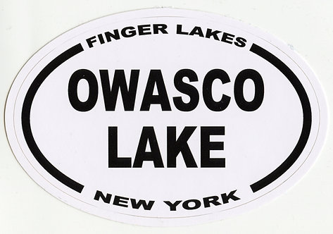 Owasco Lake Oval Sticker
