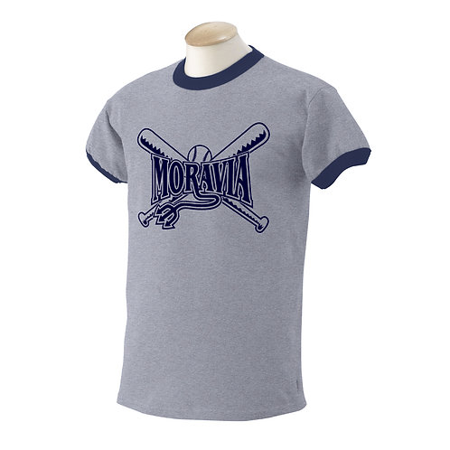 Moravia Softball Ringer T-Shirt G860