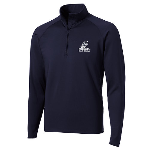 Blue Devils Adult 1/2 Zip Wicking Pullover