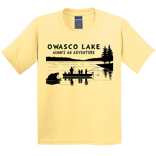 Owasco Lake Always an Adventure Youth T-Shirt