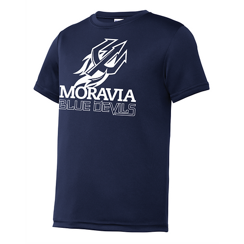 Blue Devils Youth Short Sleeve Wicking Tee