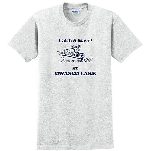 Catch A Wave! At Owasco Lake Adult T-Shirt