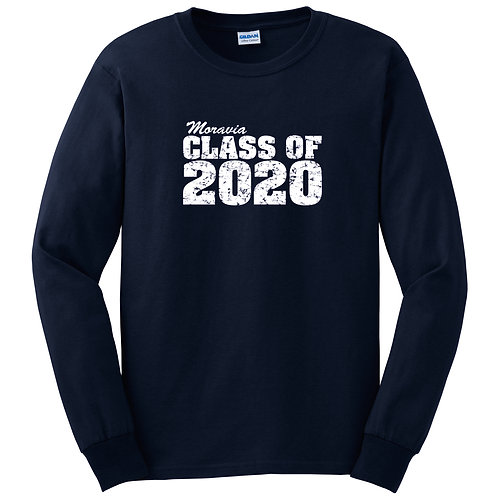 Moravia Class of 2020 Long Sleeve Tee Front only G2400