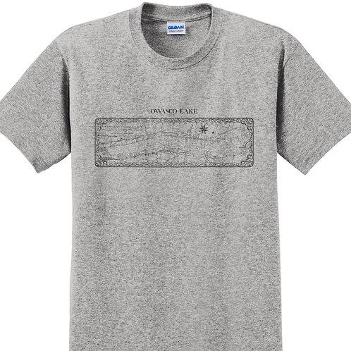 Owasco Lake Map Adult T-Shirt