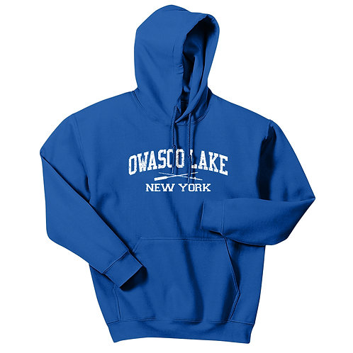 Owasco Lake Rod & Paddle Adult Pullover Hoodie
