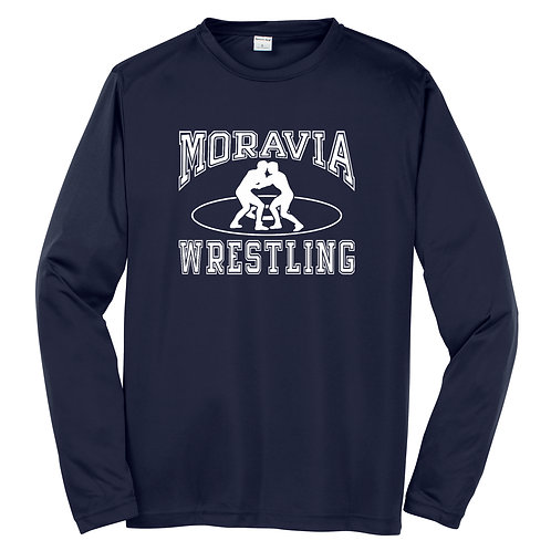 Moravia Wrestling Adult Long Sleeve Wicking Tee ST350LS