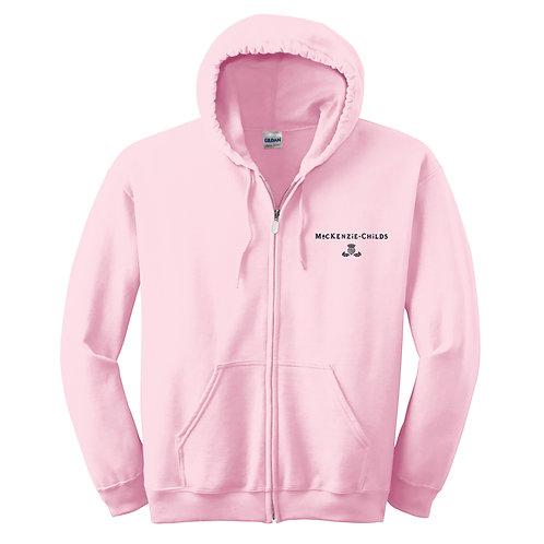 MacKenzie-Childs Full-Zip Hooded Sweatshirt 18600 - Black Logo