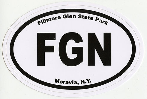 Fillmore Glen State Park Oval Sticker