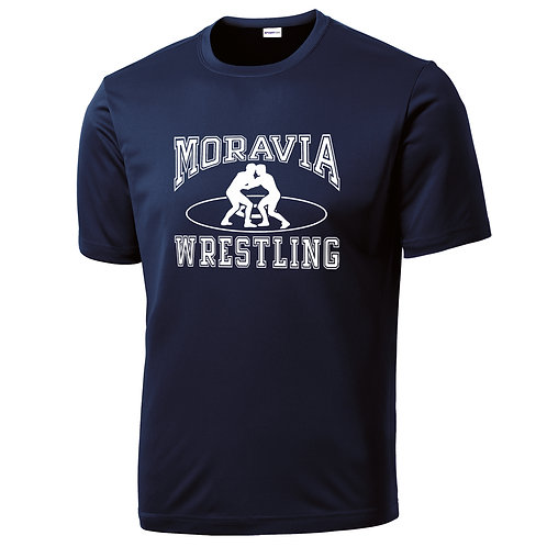 Moravia Wrestling Adult Short Sleeve Wicking Tee ST350