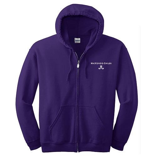 MacKenzie-Childs Full-Zip Hooded Sweatshirt 18600 - White Logo