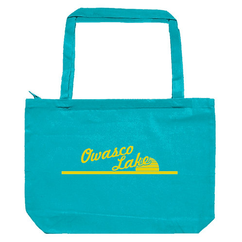 Owasco Lake Sunset Zippered Tote Bag